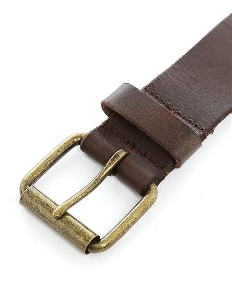 scotch and soda cognac leather belt in brown for