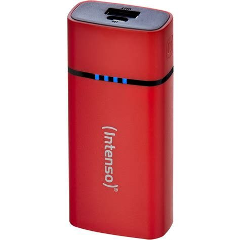 Powerbank 5 200 Mah intenso powerbank p5200 5 200 mah rot powerbanks