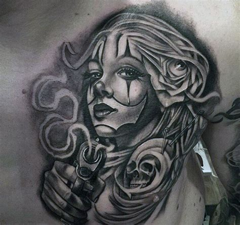 gangster style tattoo designs 100 black and grey tattoos for grandeur of gradients