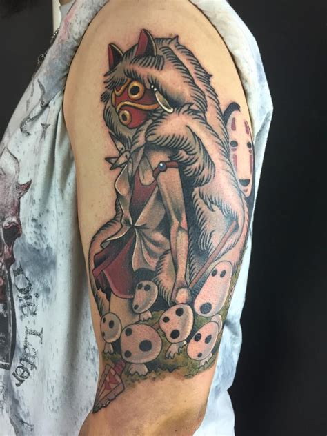 first session of my ghibli tattoo made by ronja b aka