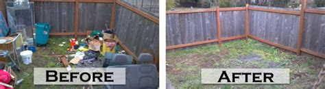 clean up backyard yard debris removal property clean up appliances