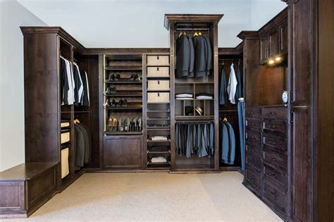 Custom Wood Closet by Custom Wood Master Closets And Dressing Room For Him