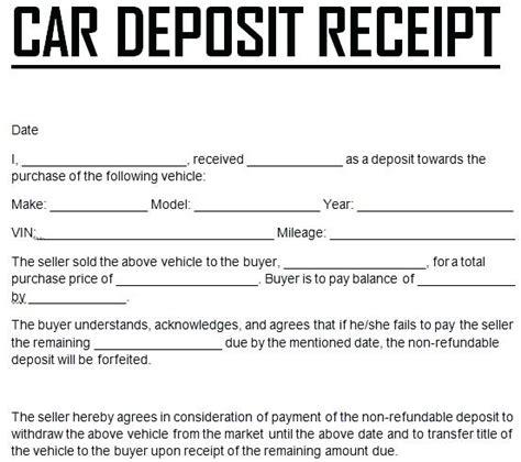 lodger deposit receipt template payment receipt template sarahepps
