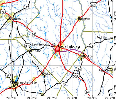 laurinburg carolina map laurinburg carolina nc 28352 profile population