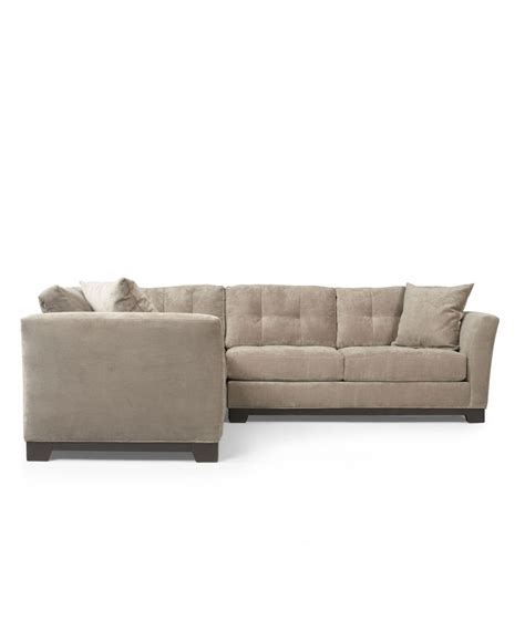 Best Microfiber Sofa by Elliot Fabric Microfiber 2 Sectional Sofa