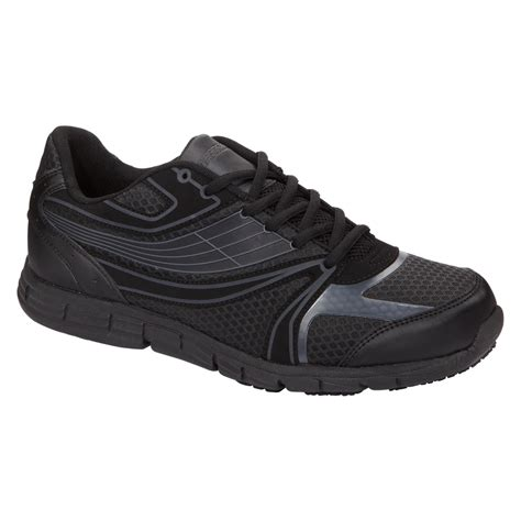 safetrax s non skid slip on shoe black