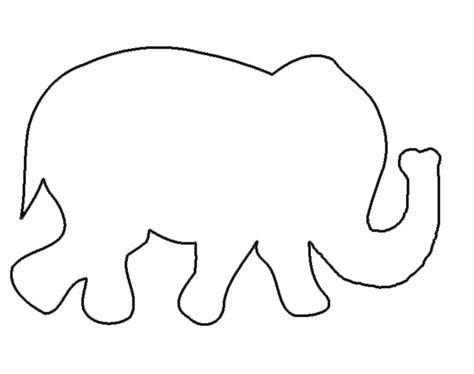 elephant cut out template graphic monday elephant strand discover create live