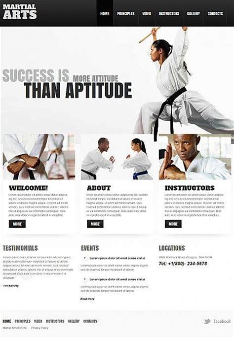 website templates for karate 1000 images about martial arts website design and