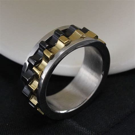 Cincin Black Polos Titanium Stainless Steel 316l titanium black gears ring if he would like it nudos you think and
