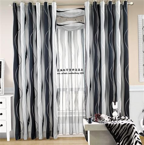 Black White Curtains Black And White Striped Curtains Home Design Ideas