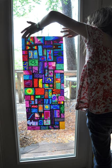How To Make Stained Glass With Wax Paper - sharpie marker on wax paper looks like stained glass