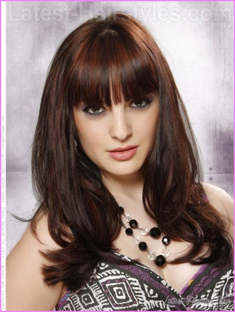 brunette hairstyle with lots of hilights for over 50 haircuts for teen girls with bangs and layers