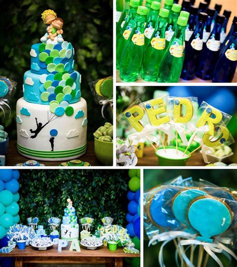 party themes green green and blue balloon themed birthday party with lots of