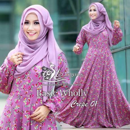 Basic Maxi Bahan Wolly Crepe basic wolly 1 purple baju muslim gamis modern