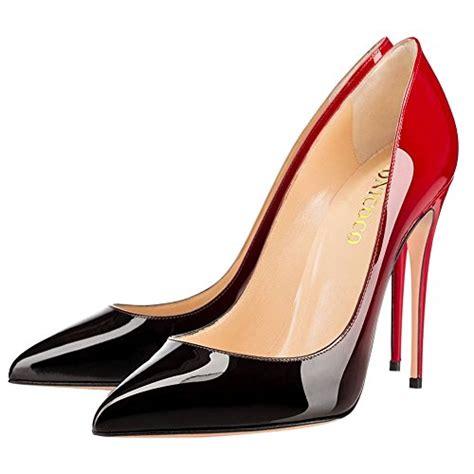 Big Heels monicoco women s big size pointed toe stiletto heels gradient color pumps shoes patent 7 m us