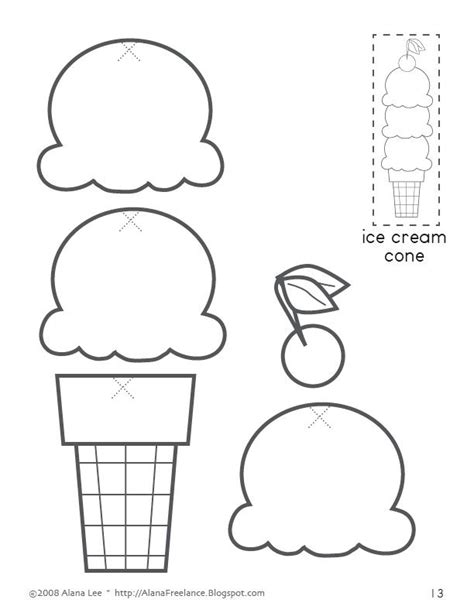 ice cream cone printable for the classroom pinterest
