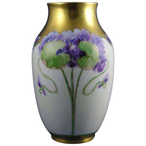 Bavaria Vase by Rosenthal Rc Bavaria Violet Motif Vase Signed Quot B C Quot C