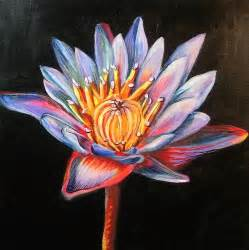Lotus Flower Canvas Awesome Pics Lotus Flower Multi Media Painting On