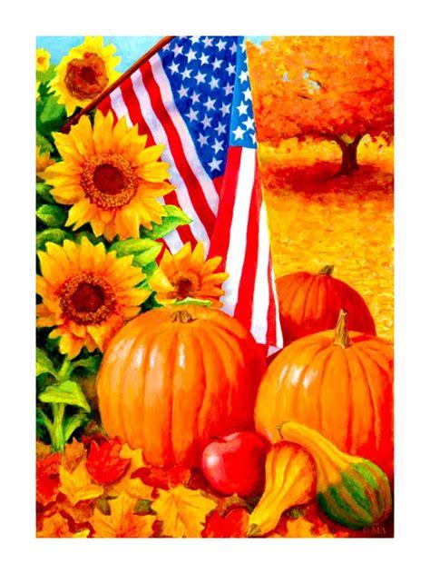 fall garden flag american fall garden flag