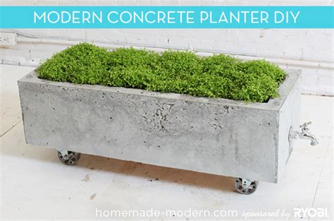 how to make a modern trough style concrete planter