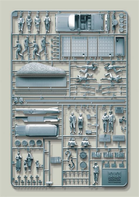 conspiracy theories illustrated using plastic model kits