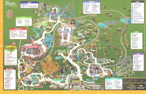 Busch Gardens Park Map by Photo By Larrygator