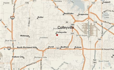map of colleyville texas colleyville location guide