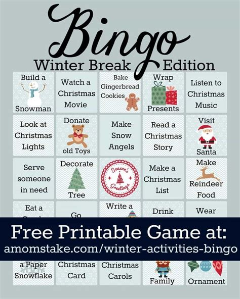 free printable winter board games winter activities bingo game printable a mom s take