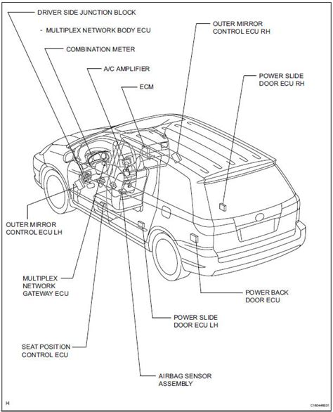 toyota sienna rear door parts diagram view toyota free engine image for user manual download toyota sienna service manual multiplex communication system multiplex communication