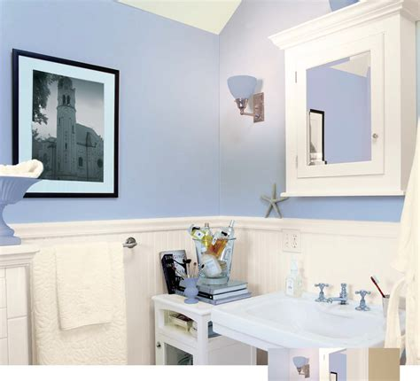 how to decorate a bathroom with light blue walls high