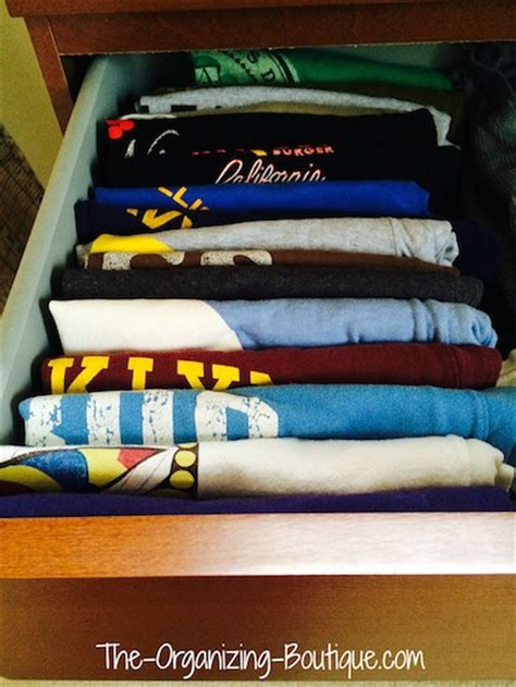 How To Organize T Shirts In A Drawer by How To Organize Your Dresser Organize Closet