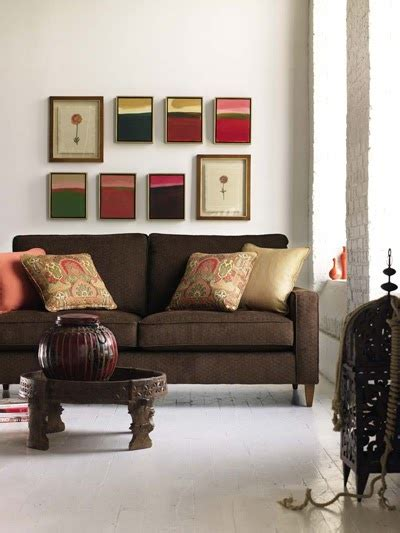 joy  decor decorate  brown sofa  peach