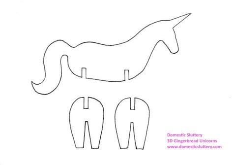 domestic sluttery how to make 3d gingerbread unicorns