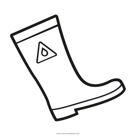 imagenes para colorear botas navideñas dibujo de bota de lluvia para colorear ultra coloring pages