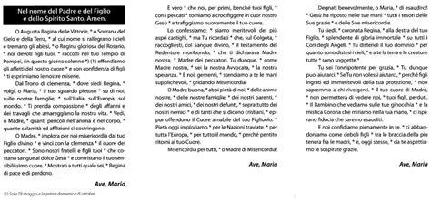 supplica alla madonna di pompei testo supplica pompei 8 maggio prenota b b vicino al santuario