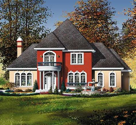 traditional southern home plan with tour 80175pm