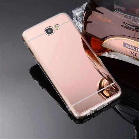 buy luxury rose gold soft tpu mirror chrome case  samsung galaxy  prime