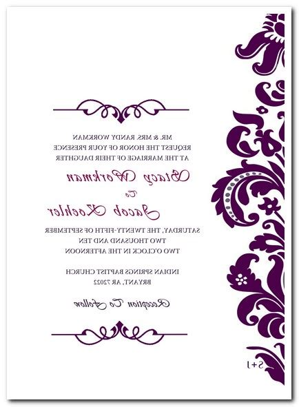 Wedding Invitations Blank by Blank Wedding Invitation Card Template Matik For