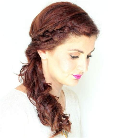 hairstyles braids to the side 40 hairstyles for prom night with braids and curls