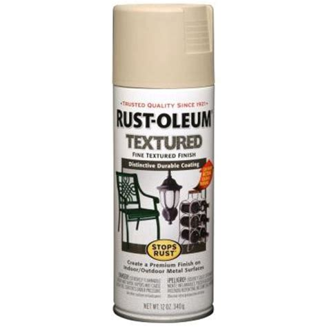 rust oleum stops rust 12 oz textured sandstone protective enamel spray paint of 6