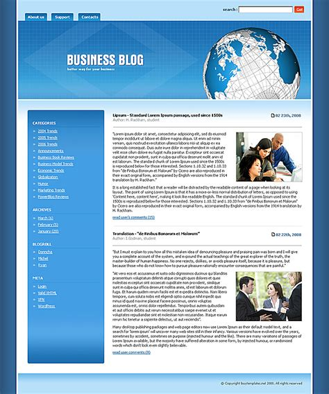 templates for blog website web templates blog http webdesign14 com