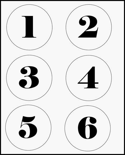 printable numbers 1 5 large number tags diy stonegable