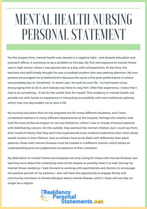 best nursing school personal statement exles
