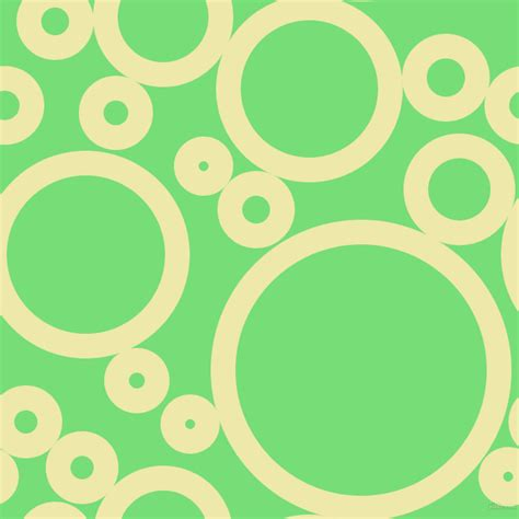 Small 2 pale goldenrod and pastel green circles bubbles sponge
