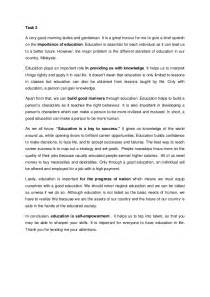 Sample Essay On Education Speech On Importance Of Education