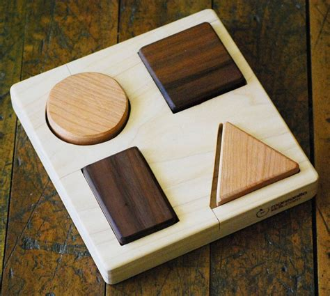 Handmade Wooden Puzzles - wood shapes puzzle personalized organic