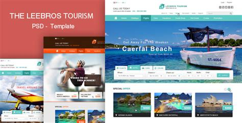 The Booking Travel Psd Template By Leebrosus Themeforest Travel Booking Website Templates Free