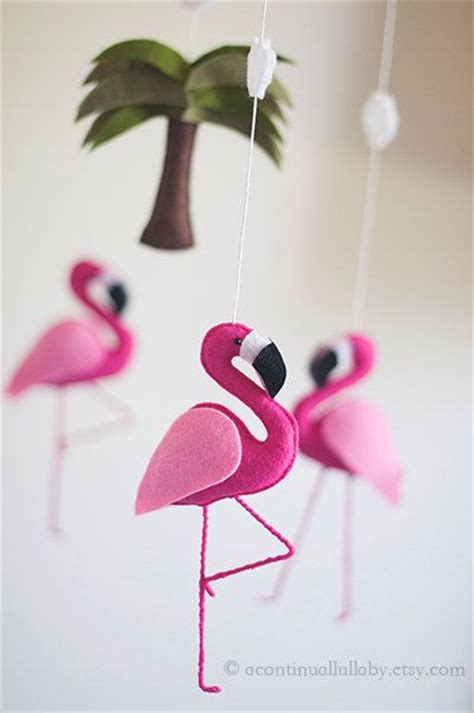 Baby Pink Flamingo pink flamingo baby mobile baby by
