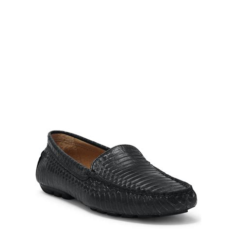 snakeskin loafers ralph carys snakeskin loafer in black lyst