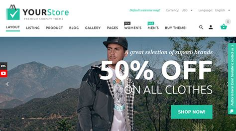 themeforest yourstore 15 best selling shopify themes on themeforest 2017